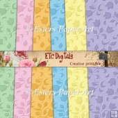Embossed Flowers Paper Pack
