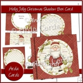 Holly Jolly Christmas Shadow Box Card