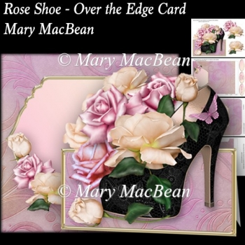 Rose Shoe - Over the Edge Card and Envelope