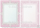 2 x A5 Pink (2) Lace Frames for Card Making & Scrapbooking