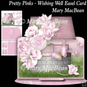 Pretty Pinks - Wishing Well Easel Card