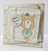 BEAR DAY SQUARE CARD