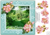 Rosemoor (3) An Enchanted Garden 8 x 8 Decoupage Card Topper