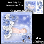 Little Baby Boy Decoupage Card Front