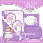 Fairy Tale Princess Scalloped Pocket Card & Envelope Set