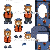 Coast Guard Teddy Decoupage Set