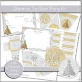 Christmas Joy Silver Party Set
