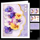 Pansy Envelope Card Mini kit