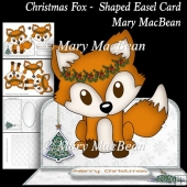 Christmas Fox Shaped Easel Card