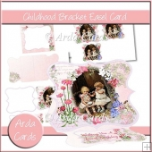 Childhood Bracket Easel Card
