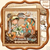 MOTORBIKE MECHANIC 8x8 Decoupage & Insert Kit