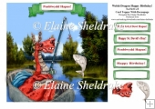 St Davids Day, or Welsh Dragon And Fishing Coracle Birthday Card