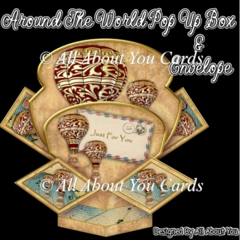 Around The World Pop Up Box Card & Envelope