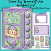 Easter Egg Bunny Off-Set Gatefold Card