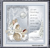 Christmas rabbit 7x7 card
