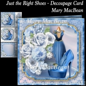 Just the Right Shoes - Decoupage Card