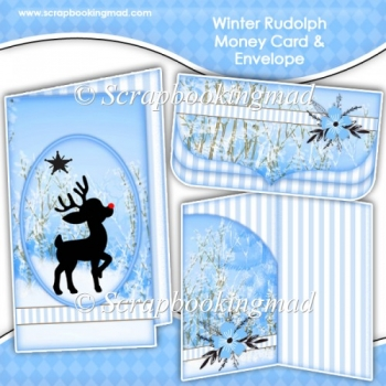 Winter Rudolph Money Card & Envelope