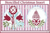 Stenciled Christmas Card Topper and/or Insert