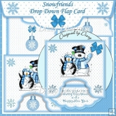 Snowfriends Drop Down Flap Card