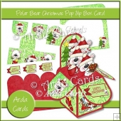 Polar Bear Christmas Pop Up Box Card