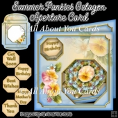 Summer Pansies Octagon Aperture Card