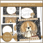 Little Beagle Shadow Box Card