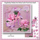 Sugarbaby Roses And Shoe Card Front And Insert