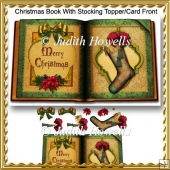 Christmas Book With Stocking Topper/Card Front