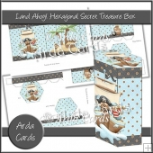 Land Ahoy! Hexagonal Secret Treasure Box
