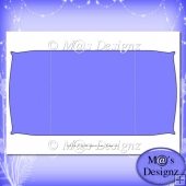 Square Gatefold Template 3