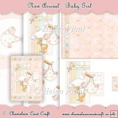 Baby Girl A5 Card Front & Decoupage