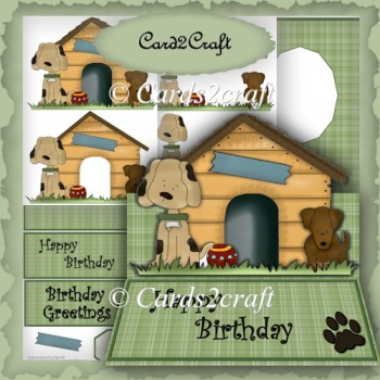 Large doggie easel card