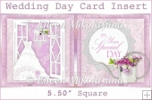 Wedding Day Card Insert