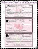 Valentine Checks and Envelope Set
