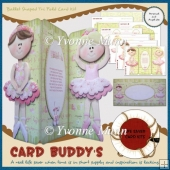 Ballet Shaped Tri Fold Card Kit