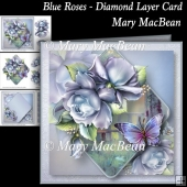 Blue Roses - Diamond Layer Card