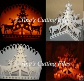 Luminaire / Ornament Reindeer Christmas Trees Cutting File