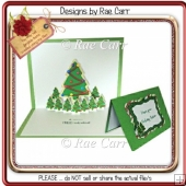 172 Christmas Tree Pop-up & Topper *HAND & MACHINEFormats*