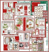 Woodland Christmas Flip Book Journal Kit -25 Digital Files