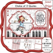 DANCE IF I WANT TO A5 Decoupage & Insert Card Kit