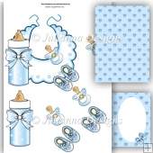 Baby Essentials Decoupage Sheet (Blue)