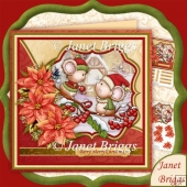 Christmas Catch Mice 7.5 Decoupage Kit