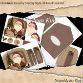 Christmas Country Shabby Style 3d Easel Card Kit