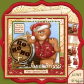 Have a Barrel of Laughs This Christmas Decoupage Mini Kit