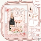 CHAMPAGNE CELEBRATIONS PEARL A5 Decoupage & Insert