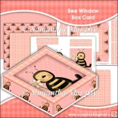 Bees Window Box Card