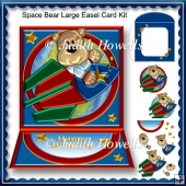 Space Bear Large Easel Card Kit