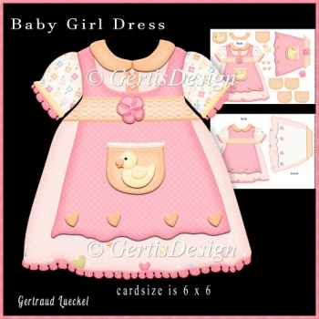 Baby Dress Duck Shaped Card