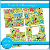 Tropical Birds Neverending Card