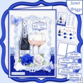 CHAMPAGNE CELEBRATIONS SAPPHIRE A5 Decoupage & Insert